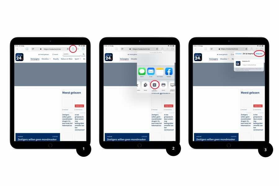 ipad stappenplan installeren pwa