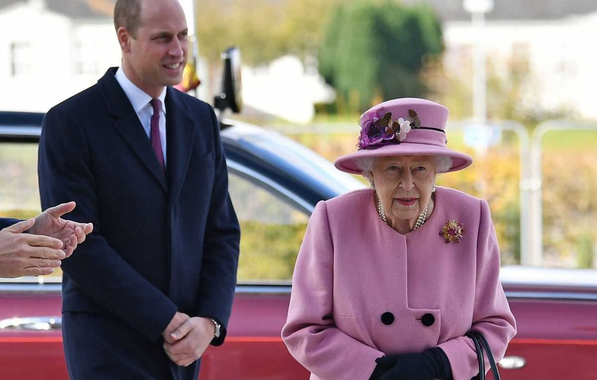 Prins William en koningin Elizabeth
